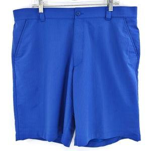 Under Armour Men's Shorts 40 Blue Golf Flat Front